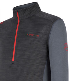 La Sportiva Rook Langarmshirt Herren carbon/poppy